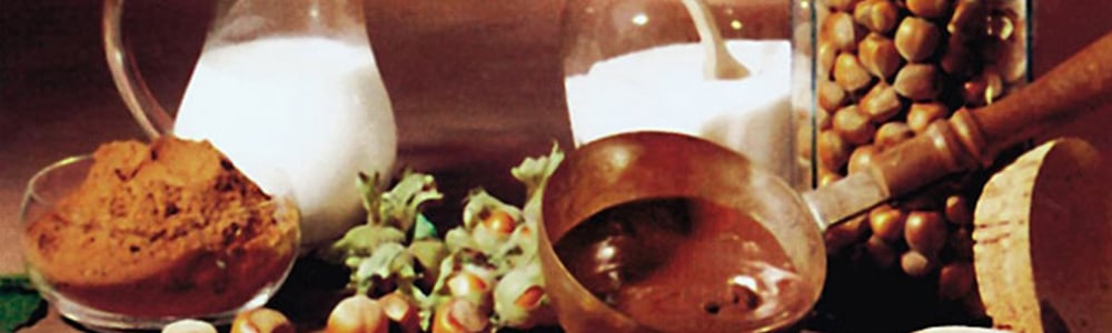 přísady pro přípravu čokolády symbolizující výrobky Ferrero