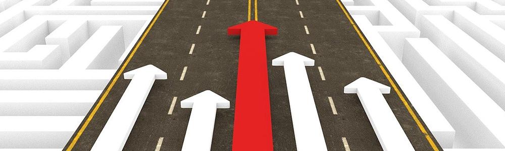 Úspěšné EDI na cestě znázorněné 5 šipkami v jednom směru