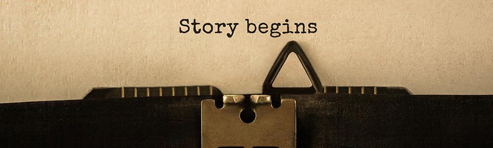 """Písmo psacího stroje """"Příběh začíná"""" symbolizuje přechod na EDI: začátek je snadný"""